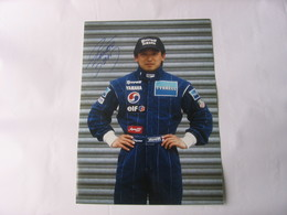 Formule 1  - Autographe - Photo Signée Ukyo Katayama - Car Racing - F1