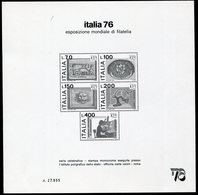 (TV01383) Italia Repubblica 1976   Stamps - Blocks & Sheetlets