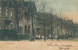 Nijmegen Groesbeekschestraat Met Huishoudschool  1904 Hand Colored . Light Crease - Nijmegen