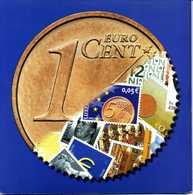 FOLDER € Euro 2002 1 Centesimo 12 Paesi Unione Europea + Francobolli - Varietà E Curiosità