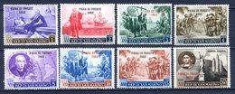 SAN MARINO 1952  - COLOMBO SOPRASTAMPATO FIERA DI TRIESTE+AEREA S.76  MNH** - Nuevos
