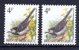 BUZIN  Papier + Kleur Variaties * Nr 2474 * P6a + P8 * Postfris Xx * - 1985-.. Oiseaux (Buzin)