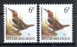 BUZIN  Papier + Kleur Variaties * Nr 2459 * P6a + P8 * Postfris Xx * - 1985-.. Oiseaux (Buzin)