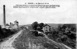 CPA - 51 - FISMES - La Gare Du C.B.R. - Fismes