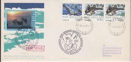 Ross Dependency 1992 Cover NZ Antarctic Research Programme + Label Scott Base Antarctica (F8153) - Dépendance De Ross (Nouvelle Zélande)