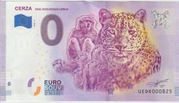 Billet Touristique 0 Euro Souvenir France 14 Cerza 2020-6 N°UEDR000825 - Privéproeven