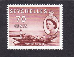 Seychelles 1954 SG183a 70c MNH - Seychelles (...-1976)