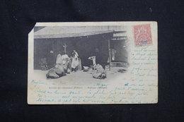 SENEGAMBIE ET NIGER - Affranchissement Type Groupe Sur CP En 1904 Pour La France, Oblitération Maritime Au Dos - L 59323 - Covers & Documents