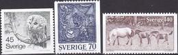 Schweden, 1977,  Mi. Nr.: 991/93,  MNH **, Natur Und Kunsthandwerk. - Suède