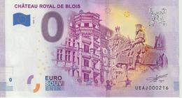 Billet Touristique 0 Euro Souvenir France 41 Chateau Royal De Blois 2020-4 UEAJ000216 - Essais Privés / Non-officiels