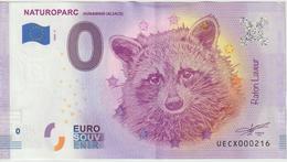 Billet Touristique 0 Euro Souvenir France 68 Naturoparc Hunawihr 2020-4 UECX000216 - Essais Privés / Non-officiels