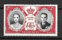 1956 - Monaco - Mariage Princier - YT 474 - MNH* - Neufs