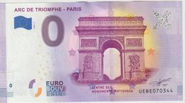 Billet Touristique 0 Euro Souvenir France 75 Arc De Triomphe Paris 2020-2 N°UEBE070344 - Private Proofs / Unofficial