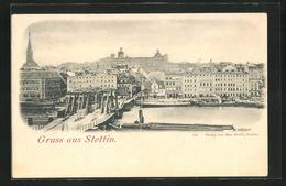 AK Stettin, Ortspanorama - Pommern