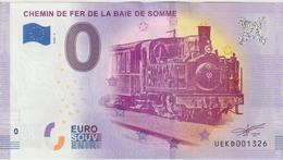Billet Touristique 0 Euro Souvenir France 80 Chemin De Fer De La Baie De Somme 2020-2 N°UEKD001326 - Essais Privés / Non-officiels