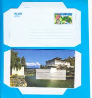 BHUTAN Around 1998 Inland Letter Sheet MNH Folded Postal Runner Paro Dzong Bhoutan Butan - Bhutan