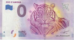 Billet Touristique 0 Euro Souvenir France 80 Zoo D'Amiens 2020-2 N°UELP000609 - Privéproeven