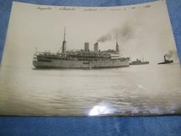 """ATTENTION - Photo Originale - Paquebot """"Albertville"""" Quittant St Saint Nazaire Le 20.01.1928 - TTB (Ph 2) - Dampfer"""