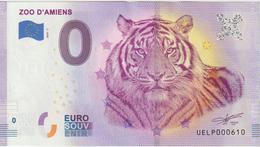 Billet Touristique 0 Euro Souvenir France 80 Zoo D'Amiens 2020-2 N°UELP000610 - Essais Privés / Non-officiels