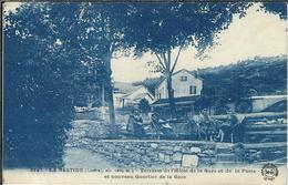 LOZERE : La Bastide-St Laurent Les Bains, Terrasse De L'Hotel De La Gare... Animée - France