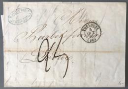 France Lettre De Toulouse 1850 - Taxe 25 Décimes - (B2011) - 1849-1876: Periodo Clásico