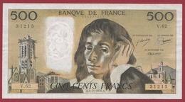 "500 Francs ""Pascal"" Du 04/11/1976.A----TTB+--ALPH.V.62 - 500 F 1968-1993 ''Pascal''"
