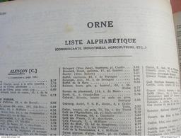 Pages Didot Bottin 1939 Orne Annuaire Alencon Argentan Flers Sees Bagnoles Vimoutiers Commerce Usine Cafe Usine Bar - Sees