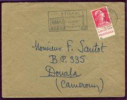 France - Timbre Publicitaire - Marianne De Muller - N° 1011 - Oblitéré - Figaac -TB Sur Lettre Pour Le Cameroun - Publicidad