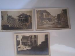3 CARTES POSTALES PHOTOS CHALONS En CHAMPAGNE GUERRE 1939-1945 BOMBARDEMENT Rue De Jessains (Jessans) Près La Prefecture - Autres Communes