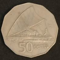 FIDJI - FIJI - 50 CENTS 1976 - Elizabeth II - 2eme Effigie - KM 36 - Fidschi