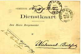 Heist-op-den-Berg Dienstkaart 2 Scans - Heist-op-den-Berg
