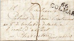 """""""66 COLMAR"""",37X13mm,L.A.C. Du 20/5/1800 Pour CHARENTON. - 1701-1800: Précurseurs XVIII"""