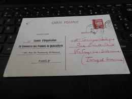 ENTIER PETAIN 1943 COMITE D'ORGANISATION DU COMMERCE DES PRODUITS DE QUINCAILLERIE PARIS REPIQUE RECTO VERSO - Entiers Postaux