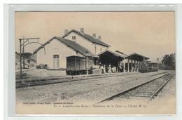 34 LAMALOU LES BAINS INTERIEUR DE LA GARE TRAIN LOCOMOTIVE EDIT LAUZE N° 35 - Lamalou Les Bains