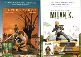 ZUCHERRI & CORENTIN : Plaquette Presentation EPEE DE VERRE & MILAN K - Livres, BD, Revues