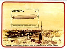 Grenade Grenada 1993 Hugo Eckener Birthday 125 Years Naissance 125 Ans Zeppelin LZ-127 Graf Zeppelin - Zeppelins