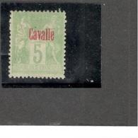CAVELLE1893-1900: Yvert 2 (mng*) Cat.Value25Euros - Cavalle (1893-1911)