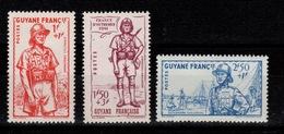 Guinee YV 169 à 171 N* Defense De L'empire Cote 4,80 Euros - Unused Stamps