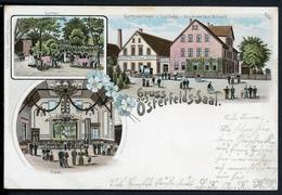 AK Rheine Kreis Steinfurth 1904 Gartenwirtschaft Osterfelds-Saal (L623 - Deutschland