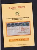 CATALOGUE DE VENTE WILLIAM 217  Eme :   COLLECTION MEYER Epaulettes Et Medaillons  DE BELGIQUE - Catalogues For Auction Houses