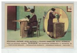 34 BEZIERS CARTE PUBLICITAIRE MACHINE A COUDRE CIE SINGER AVENUE DU MARECHAL FOCH - Beziers