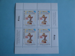 1988 Argentine  Yv 1652 X 4 ** MNH  - Michel 1948 Scott B132  Revue Philatélique Italienne Funambule - Neufs