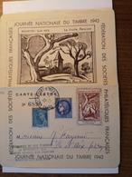 Carte Lettre Locale Journee Du Timbre 1943 Paix Ceres Vignette Rochefort Sur Mer - Rochefort