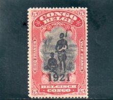 CONGO BELGE 1921 * - Congo Belga