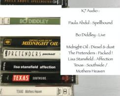 9 K7 Audio : P. Abdul-Cure-B. Diddley-Fleetwood Mac-Midnight Oil-Pretenders-L. Stansfield-Texas - Audio Tapes