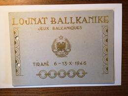 ALBANIA STAMPS LOJNAT BALLKANIKE JEUX BALKANIQUES TIRANE 1946. - Albanie