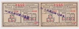 RAMSEL - 2 PREMIEBONS KOFFIEBRANDERIJ EN MARGARINE HUGO - Publicités