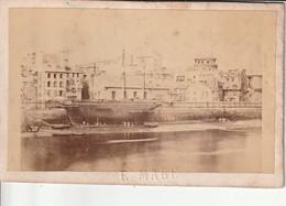 Photo Ancienne Port De Guerre à Brest 29 (bateau) Cliché Emile Mage Rue De Siam Brest - Foto