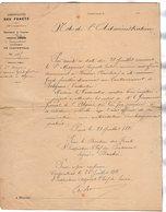 VP17.065 - PARIS  X CARPENTRAS 1886 - Note - Le Sous Officier MAGNUS à VAISON Est Nommé Garde Forestier à Constantine - Documents