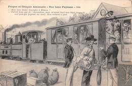 Illustration Illustrateur Alfred JARRY - Poitou Charentes Patois Poitevin Propos Et Croquis Amusants Train Paysans 3446 - Otros Ilustradores